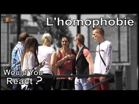 Expérience sociale #13: AGRESSION HOMOPHOBE (видео)