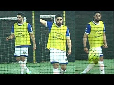 Abhishek Bachchan Playing Football