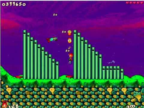 Jazz Jackrabbit 2 Jazz in Time: Purple Haze Maze - Spaz gameplay