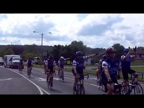 Police Unity Tour 2013 riding thru Warrenton VA