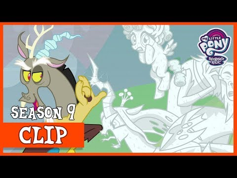 Celestia, Luna and Discord Turn the Villains to Stone (The Ending of the End) | MLP: FiM [HD]