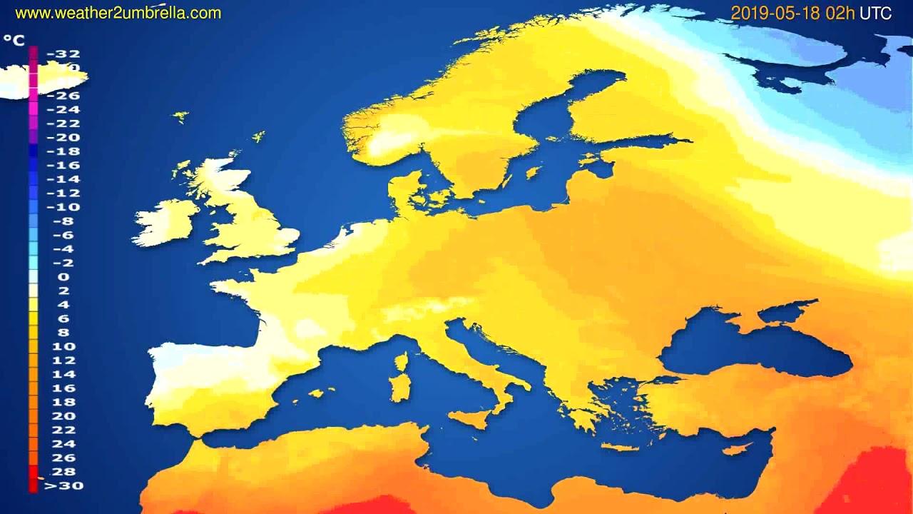 Temperature forecast Europe // modelrun: 00h UTC 2019-05-15