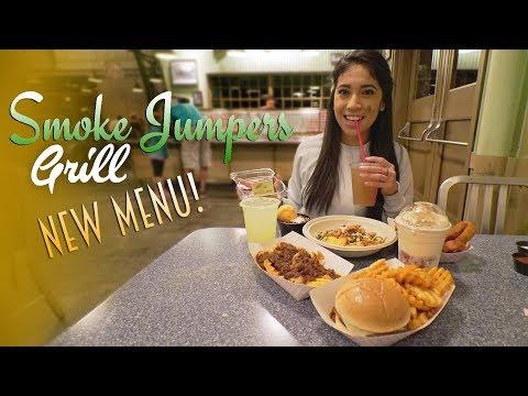 Smoke Jumpers Grill's New Tasty Menu | Disneyland Resort Food (видео)