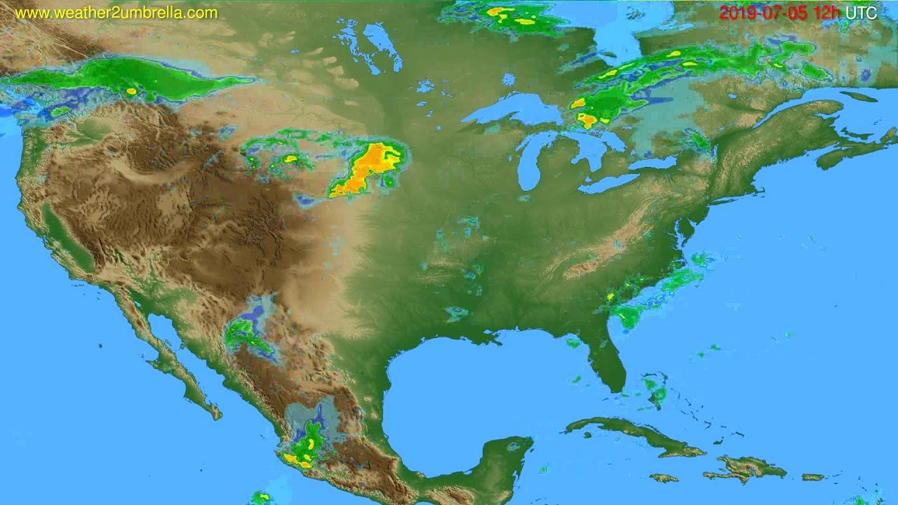 Radar forecast USA & Canada // modelrun: 00h UTC 2019-07-05