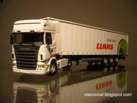 camion scania - TRACTO CAMIÓN MARCA SCANIA MODELO R580 CON TRAILER CLAAS, ESCALA 1:50, UNIVERSAL HOBBIES, NÚMERO DE PARTE 5600.