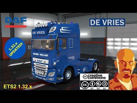 DAF XF 116 DE VRIES + TRAILER (RECOVERED) ETS2 1.31.x