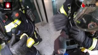 Incendio de sucursal bancaria atendido por T-5 de Bomberos de Fuenlabrada