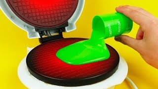 Video What if to Drop SLIME into Waffle Maker MP3, 3GP, MP4, WEBM, AVI, FLV Agustus 2017