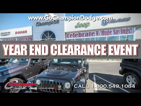 DODGE & JEEP - Year End Clearance - Los Angeles, Cerritos, Downey CA - CHRYSLER & RAM