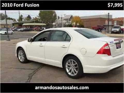 2010 Ford Fusion Used Cars Fort Lupton CO