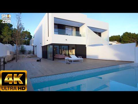 Недвижимость в Испании 2020/Новые дома на Коста Бланка/Новые виллы с видом на море в Морайре/Хайтек