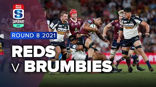 Reds v Brumbies Rd.8 2021 Super rugby AU video highlights