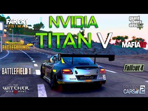 NVIDIA TITAN V Test in 8 Games 4K (i7 8700k)