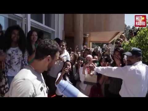 SAAD LAMJARRED AVEC SES FANS A HIT RADIO - 07/04/14