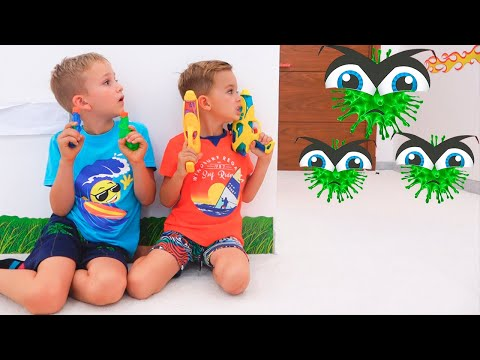 Vlad and Niki Children story about Viruses