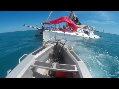 Trying to save the boat