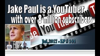 "Jake Paul is a YouTuber with over 8 million subscribers - LP 144Please Subscribe  : https://goo.gl/cFYlJ7Jake Joseph Paul was born January 17, 1997. He is an American actor and internet personality who rose to internet fame on the now-defunct video application Vine. Paul portrays Dirk on the Disney Channel series Bizaardvark. He is also a YouTuber with over 8 million subscribers.Paul started his career in September 2013 posting videos on Vine. By the time Vine closed, Jake Paul had 5.3 million followers and 2 billion times played on the app.On January 17, 2017, Paul launched Team 10 with a $ 1 million grant to create Influencer marketing manager and creative agency for teen entertainment. Investors include Danhua Capital, Alpha Horizons, Vayner Capital, Sound Ventures and A-Grade Investments and Adam Zeplain.On May 30, 2017, Paul released a song and music video along with Group 10 titled ""It's Everyday Bro,"" which reached over 70 million YouTube views in the first month and became the eighth most disliked video on YouTube.According to common sense, Jake Paul had a good act. It led to fans who enjoyed his presence on the kooky Disney Channel program ""Bizaardvark."" This is widely regarded as hurricane, which contributes to the development of his reactions to social media and is also a great challenge....Follow Disney Channel and his representatives, Paul does not appear in every episode of the series, which follows two female best friends as they post funny songs and videos online.However, there is a difference in direction of development, while Paul's personal business plans have brought him to older audiences, while the Disney Channel is still targeting children and families.Paul is now 20 and a half years old. He is one of Disney's top talent. He was first invited to the show in December 2015. Production of ""Bizaardvark"" began in January last year.According to Nielsen's figures, this program is ranked 12th among live-action films in 2017 so far viewed by both children aged 6-12, 6 and 14. This program is chapter The Disney Channel is the seventh most viewed among kids in those two categories.ThanksPlease subscribe, like,shareLucy protopnail channel – Part : World NewsMy blog : https://lphotnews.blogspot.com/"