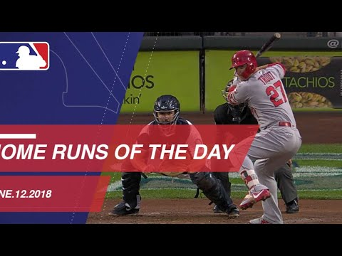 Watch all home runs from June 12, 2018