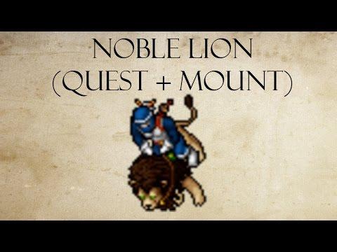 Tibia : Montaria Noble Lion Completa (Quest + Mount)
