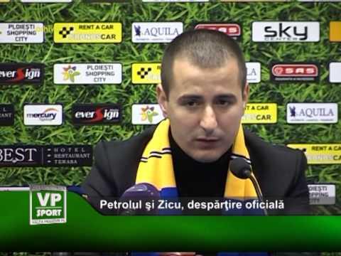 Petrolul si Zicu, despartire oficiala