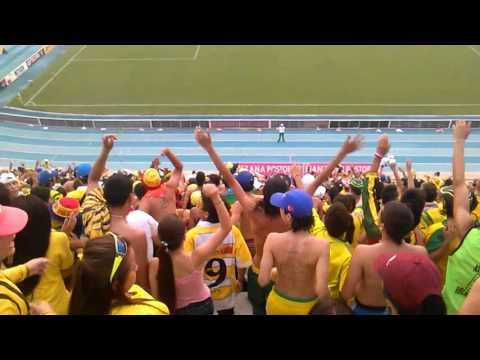 La hinchada en barranca...FORTALEZA LEOPARDA SUR 2016 - Fortaleza Leoparda Sur - Atlético Bucaramanga