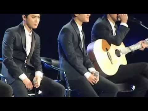 spanish - Chanyeol's voice OTL I was shaking/crying when they performed this beautiful song ;-; sorry(?) PLEASE DO NOT RE UPLOAD.