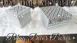 DIY DOLLAR TREE BLING DECOR BOXES 💎 DOLLAR STORE DIY 💎  DIY GLAM ROOM DECOR 💎  TUMBLR INSPIRED