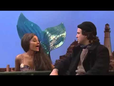 Ariana Grande at SNL as Mermaid
