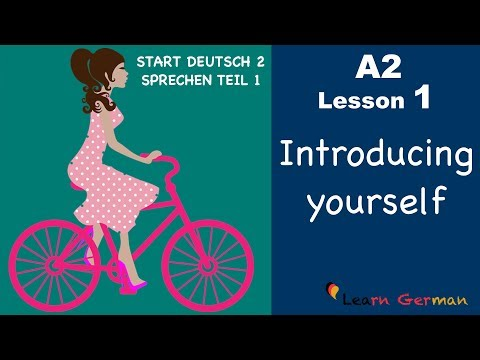 Learn German A2 | Introducing yourself | sich vorstellen | German for beginners | A2 - Lesson 1 (видео)
