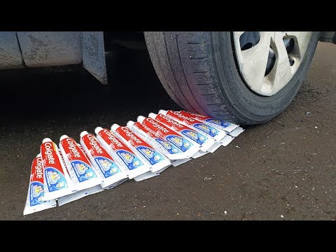 EXPERIMENT: CAR VS 50 TOOTHPASTE