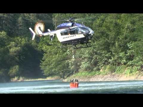 Edersee: Hubschrauber nach Waldbrand im Einsatz