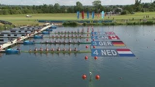 Full Replay from Eton Dorney as the heats take place for the men's eight rowing event at the London 2012 Olympic Games (28 ...
