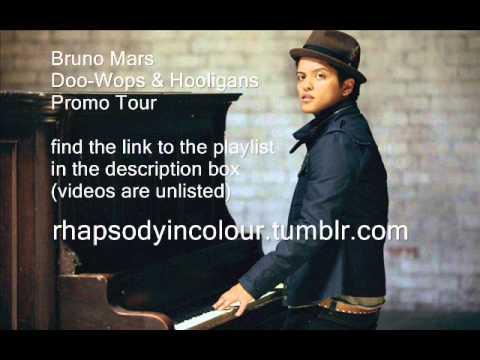 Bruno Mars Doo-Wops & Hooligans Promo Tour Videos ~ rhapsodyincolour