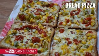 Bread Pizza on Tawa in Hindi  तवा ब्रेड पिज्जा बनाने की विधि  Quick and Easy Bread Pizza Recipe ❝Bread pizza recipe with step by step photos – a quick and ...