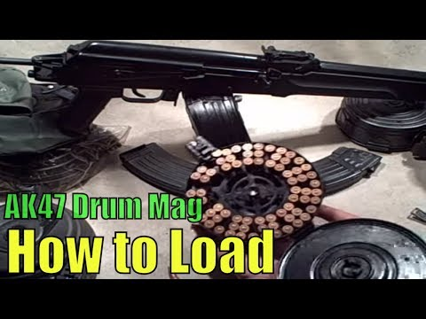 How to: Loading AK47 Drum Magazines
