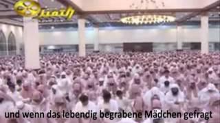 Nasser Al-Qatami Sura At-Takwir Deutsch*