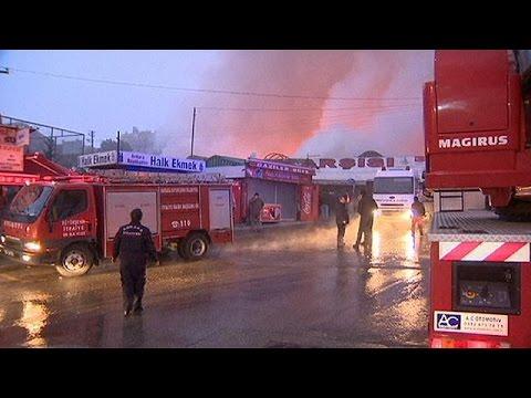 Τουρκία: Καταστροφική πυρκαγιά σε παζάρι της Άγκυρας