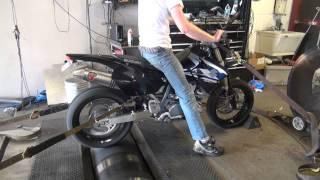 9. Suzuki DRZ400 SuperMoto dyno K.P. Tuning