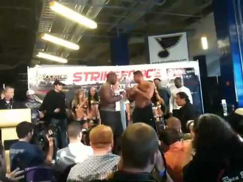 Brett Rogers and Allistar Overeem weigh in