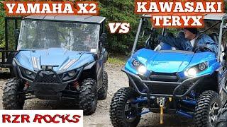 "10. ""BEST DRAG RACE"" Yamaha X2 (850cc)  vs  Kawasaki Teryx (800cc), both are twin cyl."