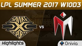 SS vs IM Highlights Game 1 LPL SUMMER 2017 Snake vs I May by Onivia Make money with your LoL knowledge ...