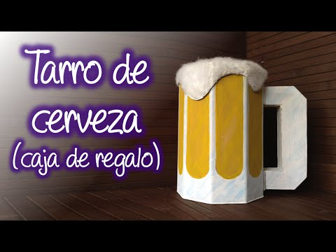 Caja de regalo con forma de Tarro de cerveza