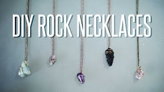 DIY WIRE WRAPPED ROCK NECKLACE - YouTube