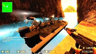 Counter Strike Source Zombie Escape mod online gameplay on ze_industrial_dejavu_v3_3_1 map