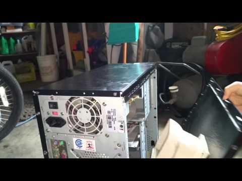 How to remove a side panel off of a tower PC