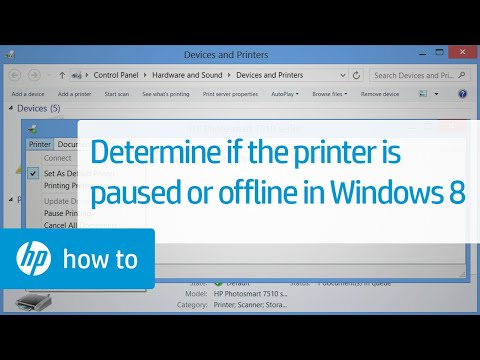 how to on a printer when it is offline