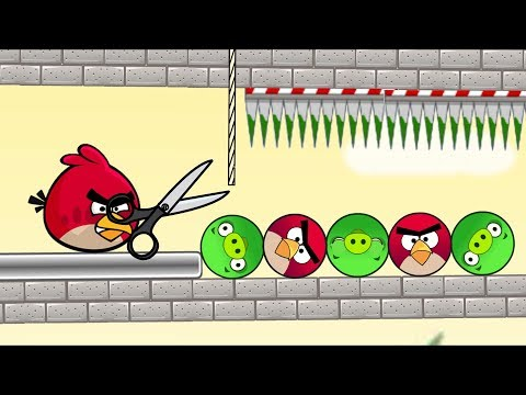 Angry Birds Piggies Out - RESCUE THE BIRD AND KICK ROUND PIGS!