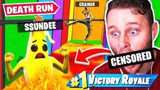 BEATING SSUNDEE'S Crundee DEATHRUN TIME (Fortnite)