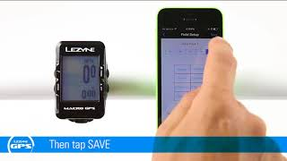 Lezyne GPS - Add multiple bike profiles and customize data pages and fields