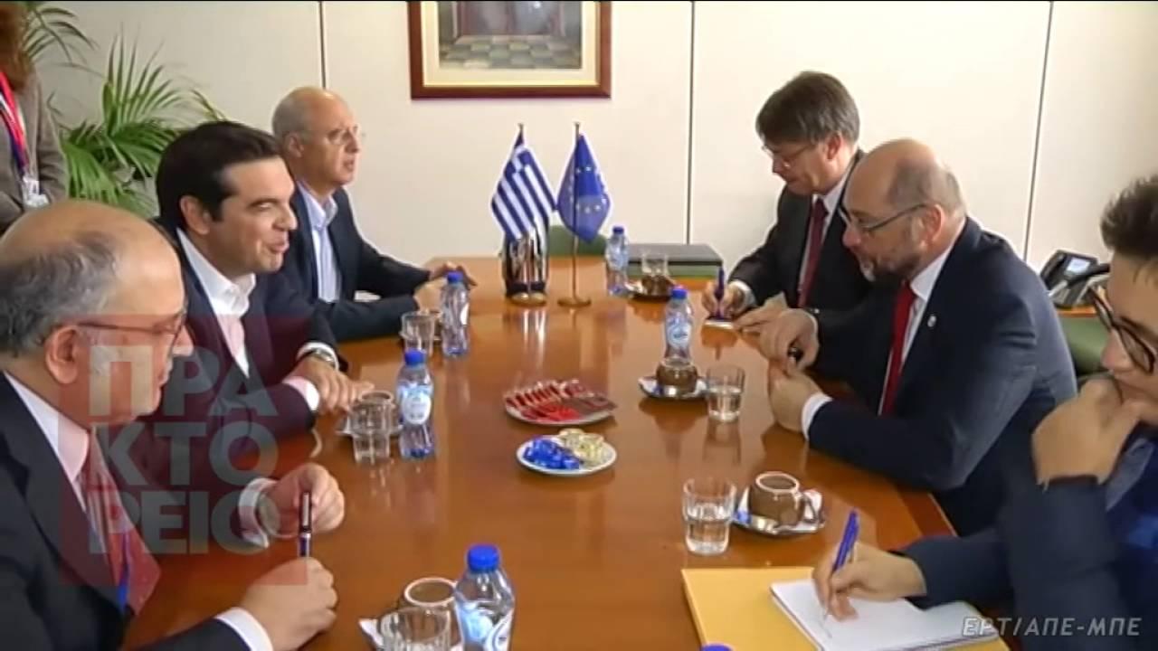 To ζήτημα του χρέους στο επίκεντρο της συνάντησης Τσίπρα-Σουλτς